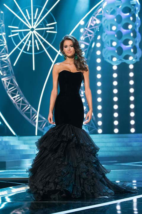Miss Alabama USA 2013, Mary Margaret McCord, competes in her evening ...