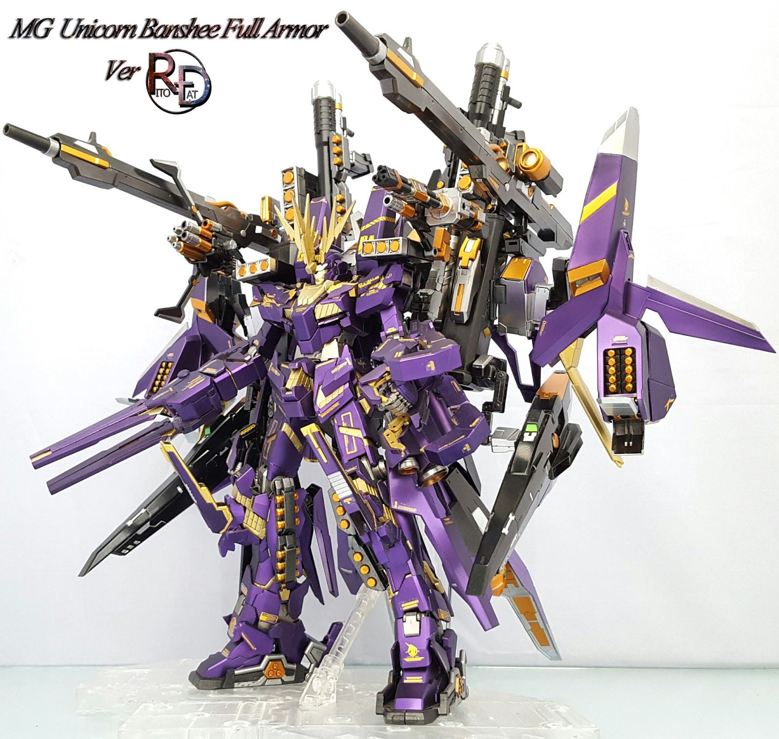Custom Build Mg 1 100 Full Armor Banshee Gundam Kits Collection