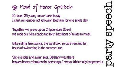 Maid Of Honor Speech Poem Idea  His Mrs    Poem Ideas