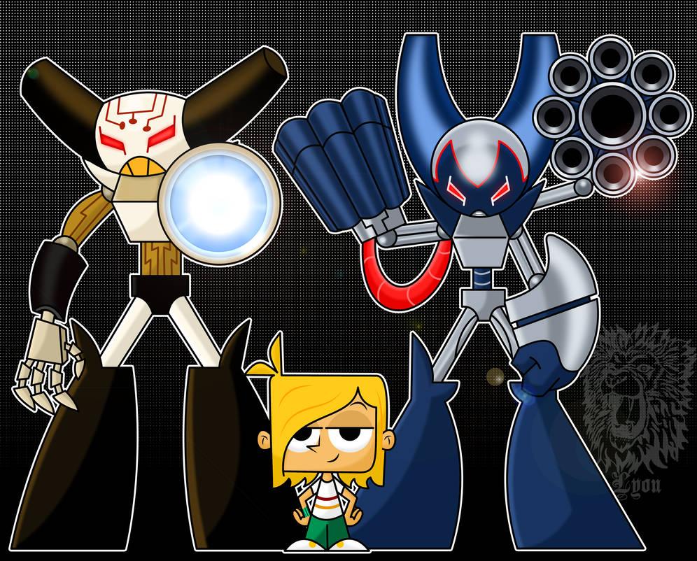 A Boy And His Robots By Thebig Chillqueen On Deviantart Robot Cartoon Spiderman Art Robot Art