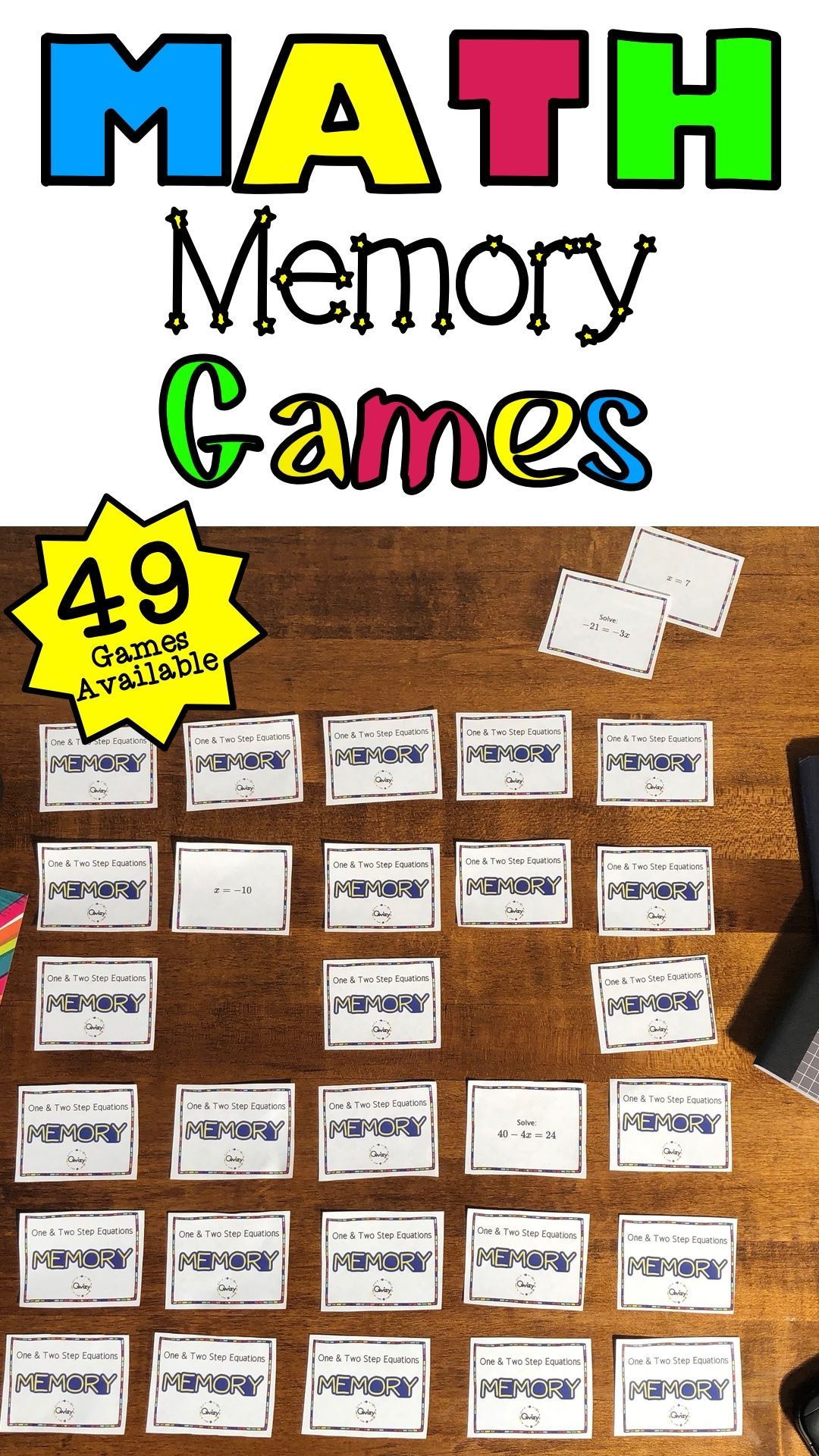 Memory Activities For Your Math Classroom In