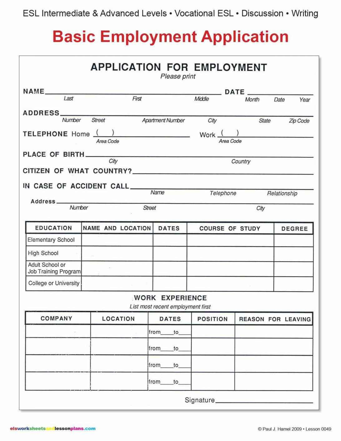 On The Job Training Pdf And Examples Of On The Job Training Programs The Most Importan Printable Job Applications Employment Application Job Application Form