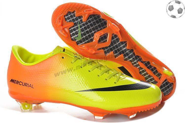 best service d075b 6aeb3 2013 Nike Mercurial Victory IV FG Jaune Orange Noir FT5989