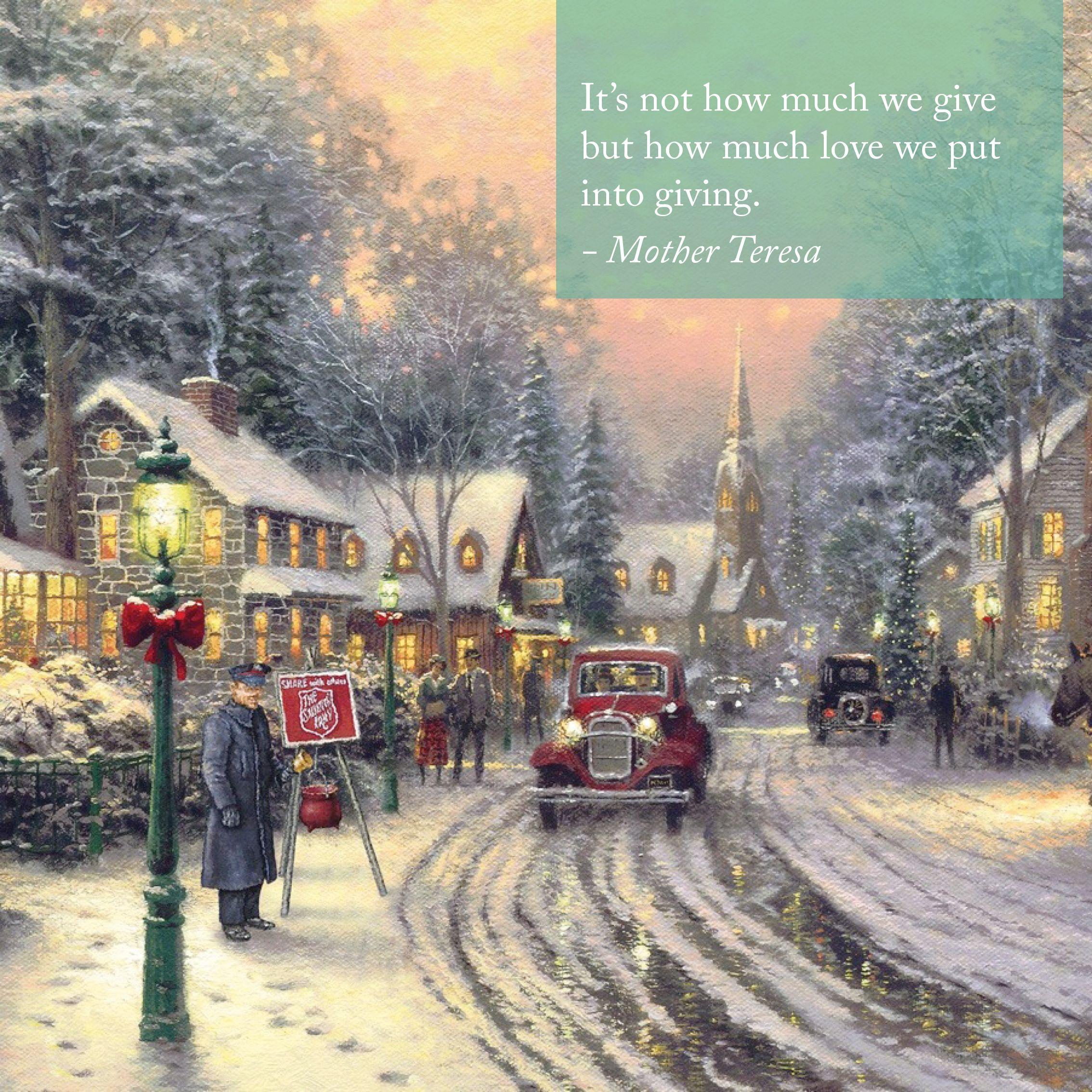 "Sunday Inspiration. ""Share the Light."" ""The Season of Giving"" - Thomas Kinkade - 2001 - #inspirational"