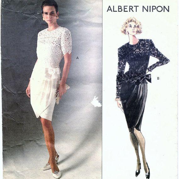 Vogue Pattern 2492 One Piece Misses Dress And Top American Designer Albert Nipon Sizes 18-20-22.  #sharpharmade