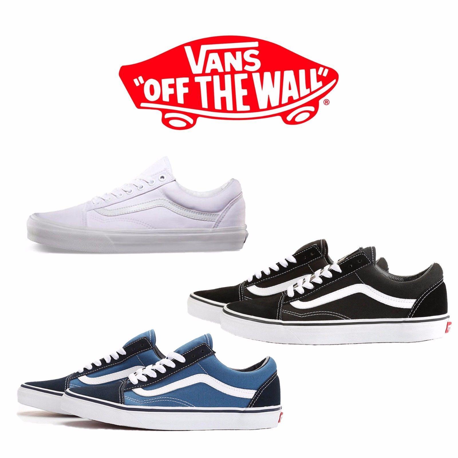 9cc0a9b37fad97 Vans Old Skool Classic Skate Shoe Men Women Unisex Suede Canvas Black Navy  White
