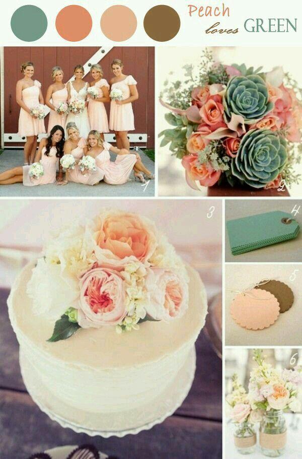 4505417427 Brown / Peach Élénk Rózsaszín, Esküvői Színek, Inspiráció Az Esküvőhöz,  Álomesküvő, Szabadtéri