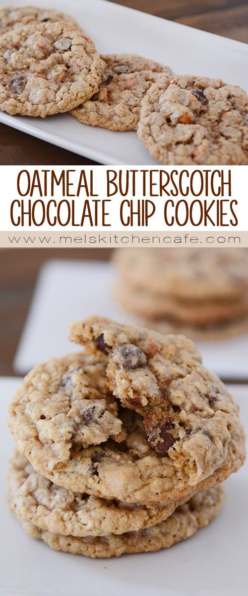 Chocolate Chip Oatmeal Butterscotch Cookies