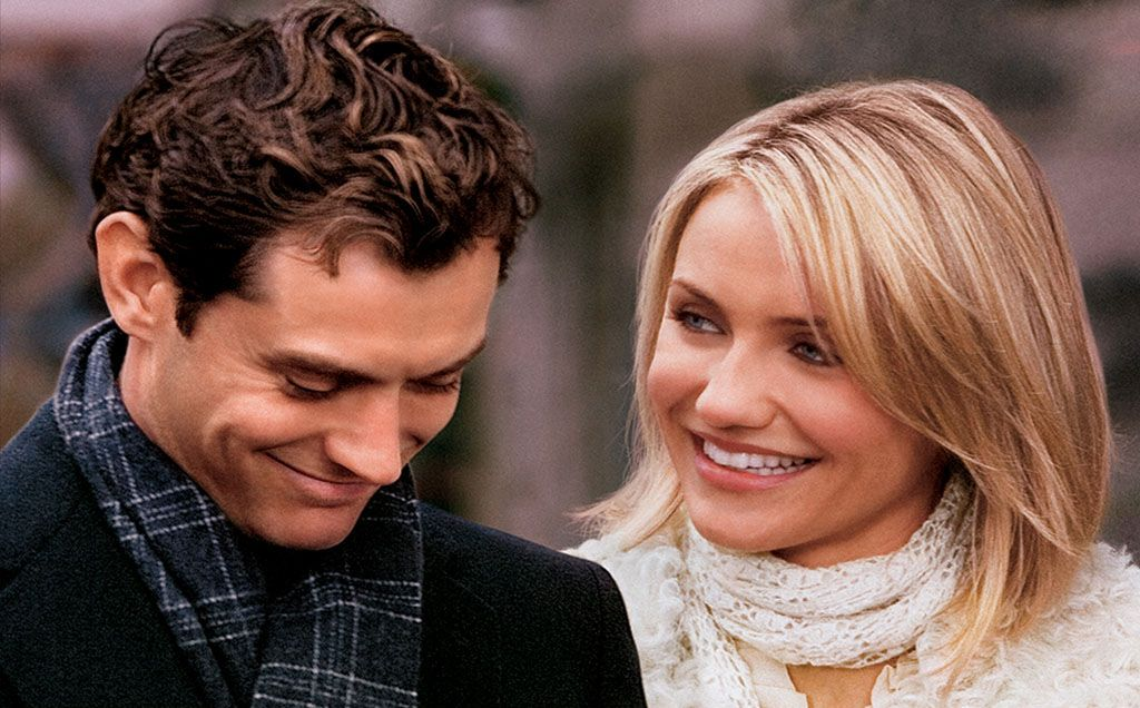 """Jude Law and Cameron Diaz en """"The Holiday"""", 2006"""