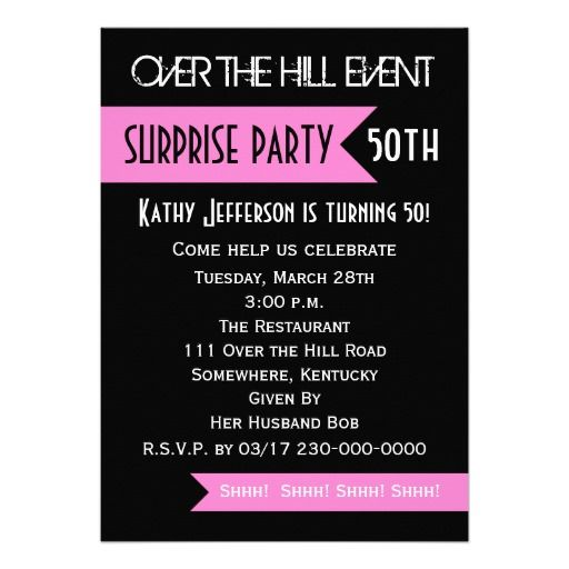 Get Surprise 50th Birthday Party Invitations Wording