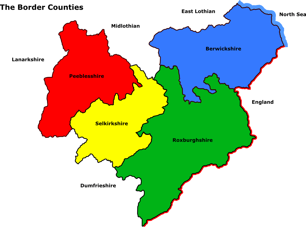 Map Of Ireland With County Borders.Scottish Borders Counties Map Outlander County Map Irish