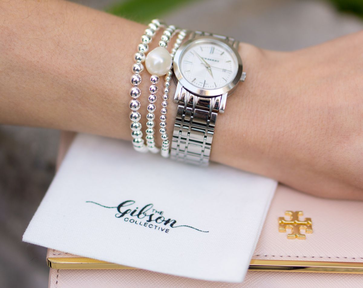The Gibson Collective Bracelet Review Custom Stacks To Fit Pee Wrists Beads Pearls Eming Jewelry Stefani
