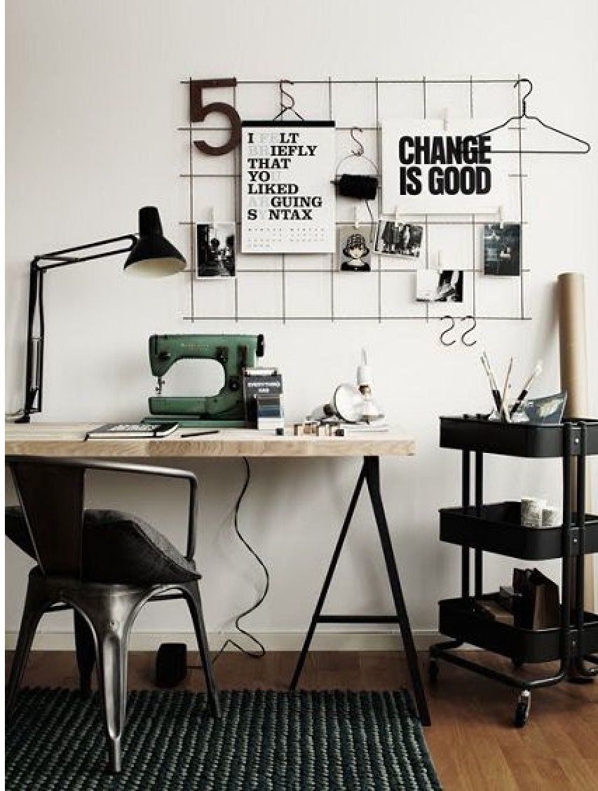 workspace furniture office interior corner office desk. Wire Inspiration Board ~ Change Is Good Poster + Diy Organizer Cool Office Chair Blacks And Whites Workspace Furniture Interior Corner Desk K