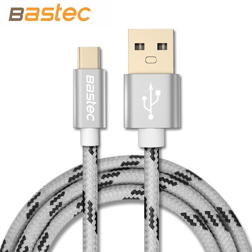 Bastec 원래 usb c 형 케이블 골드 도금 플러그 데이터 전송 유형 c usb 케이블 맥북/xiaomi 4c/letv/oneplus