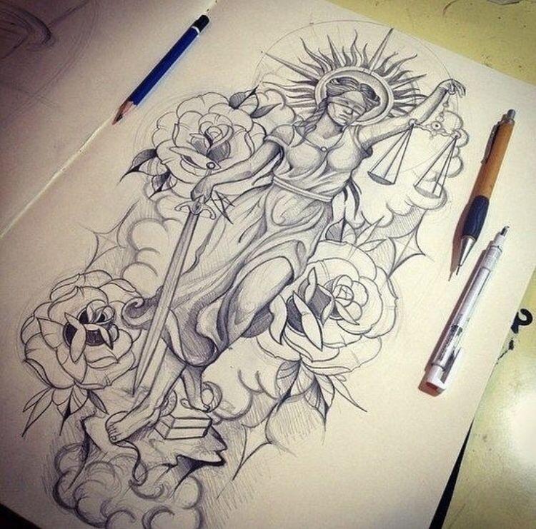 Pin Von Syr Uyr Auf Tatto Gerechtigkeit Tattoo 8