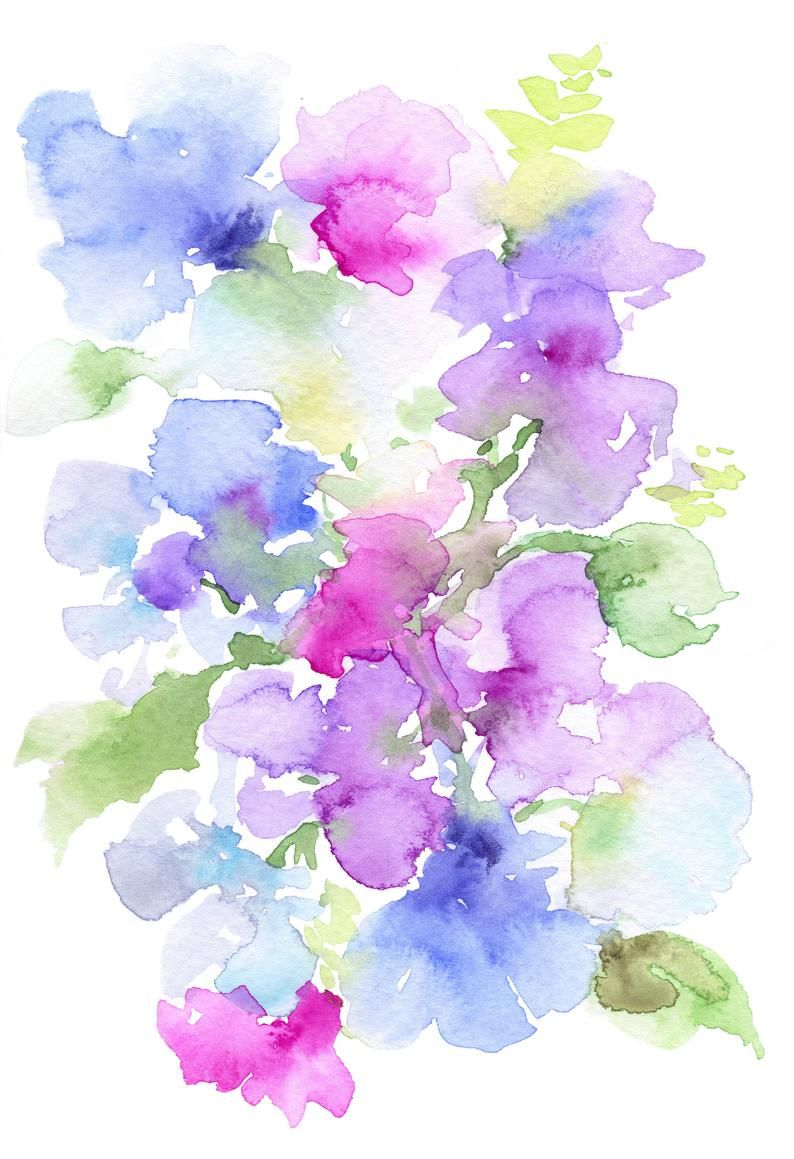 Purple Wall Art Purple Flower Wall Print Purple Print Purple