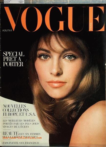 Nathalie Delon Vogue Paris August 1967 Vogue Magazine Covers Vogue Covers Vintage Vogue Covers