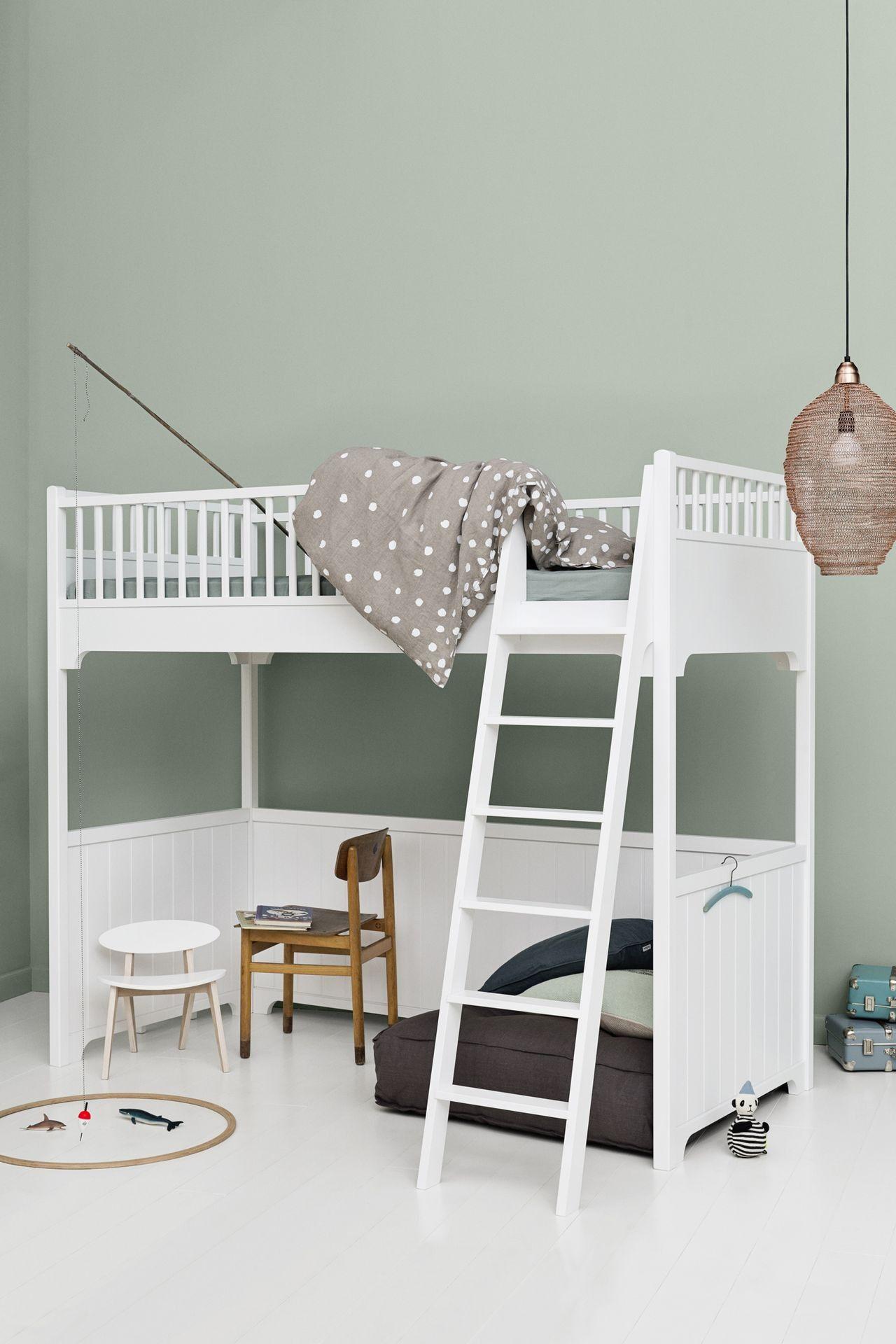 Oliver Furniture Hochbett Seaside 90x200 Cm Weiß