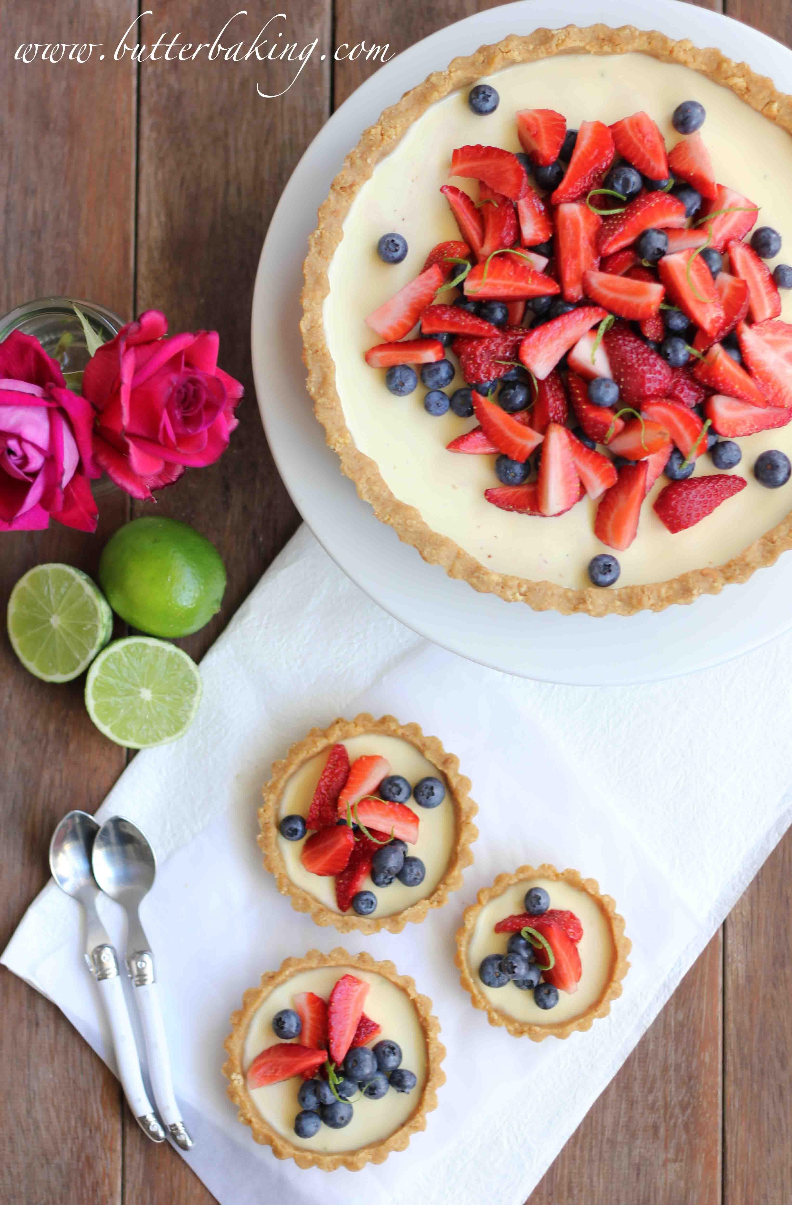 Berry and lime panna cotta tart Recipe Panna cotta