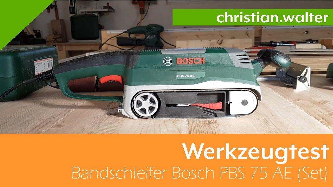 werkzeugtest - bandschleifer bosch pbs 75 ae (set) | (hobby