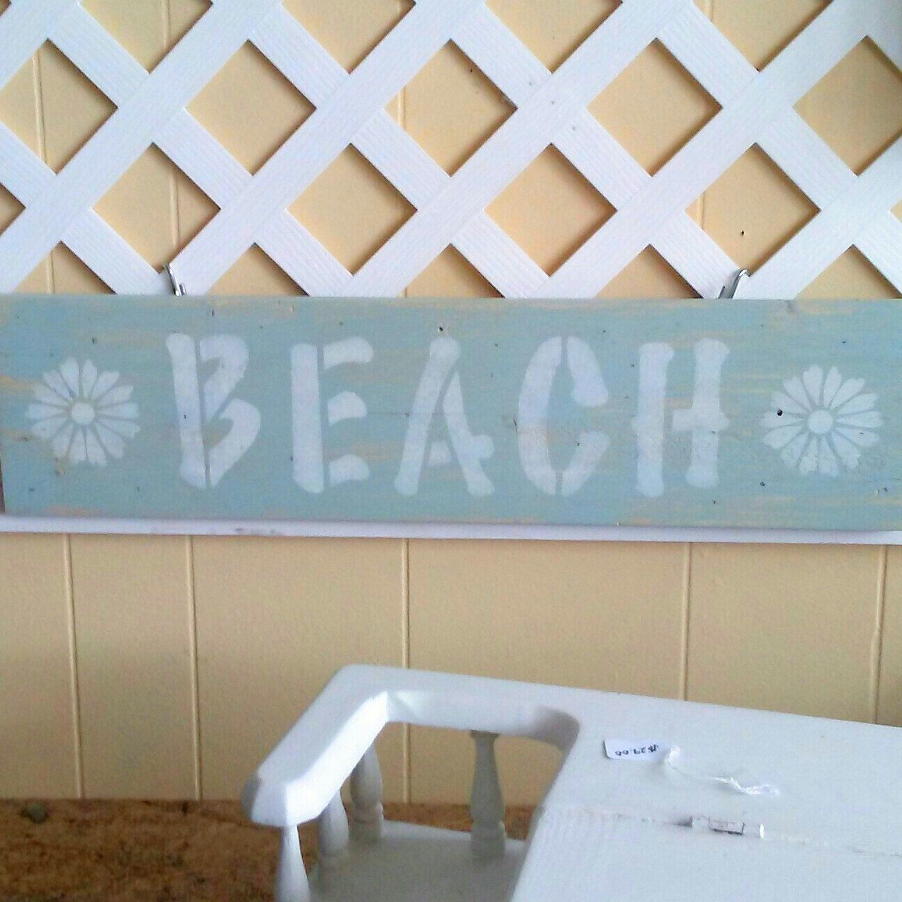 Coastal wood sign painted in beach blue for sale in our online Etsy ...
