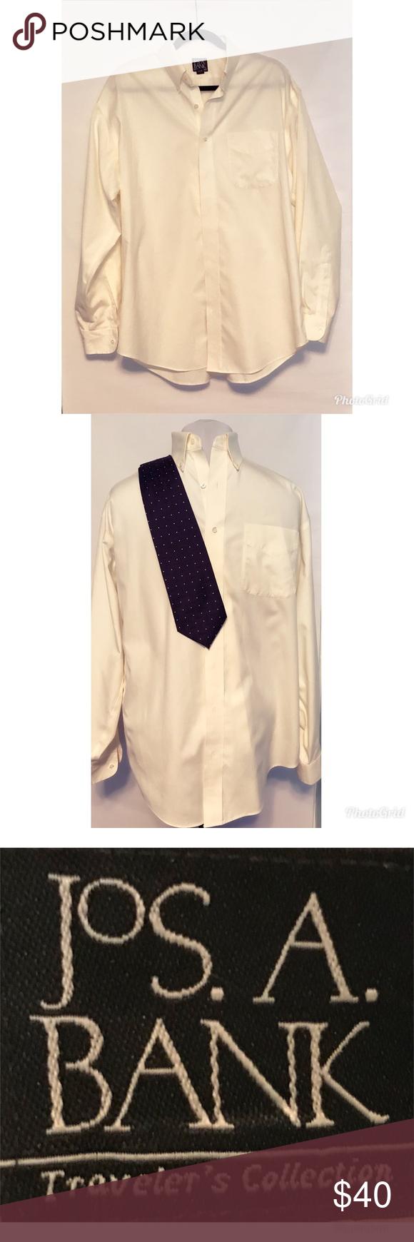 Jos A Bank Travelers Mens Dress Shirt Size 16 35 My Posh Closet