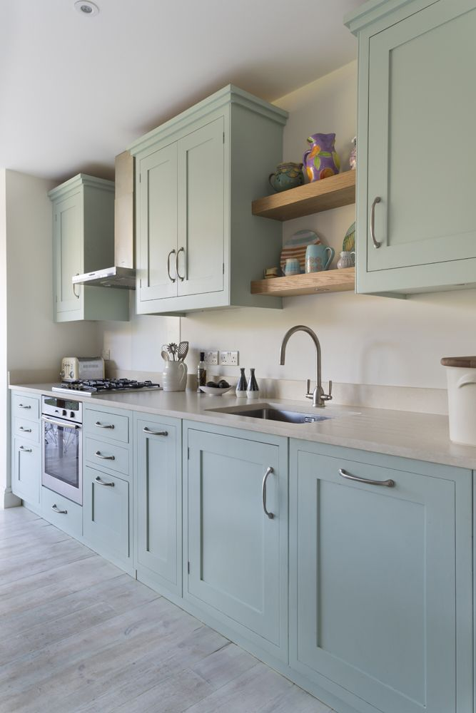 This gorgeous classic kitchen combines hand painted, pastel ...