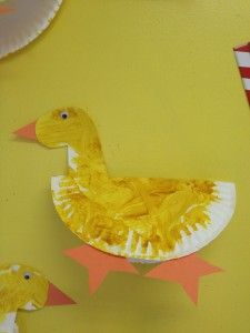 paper plate duck craft