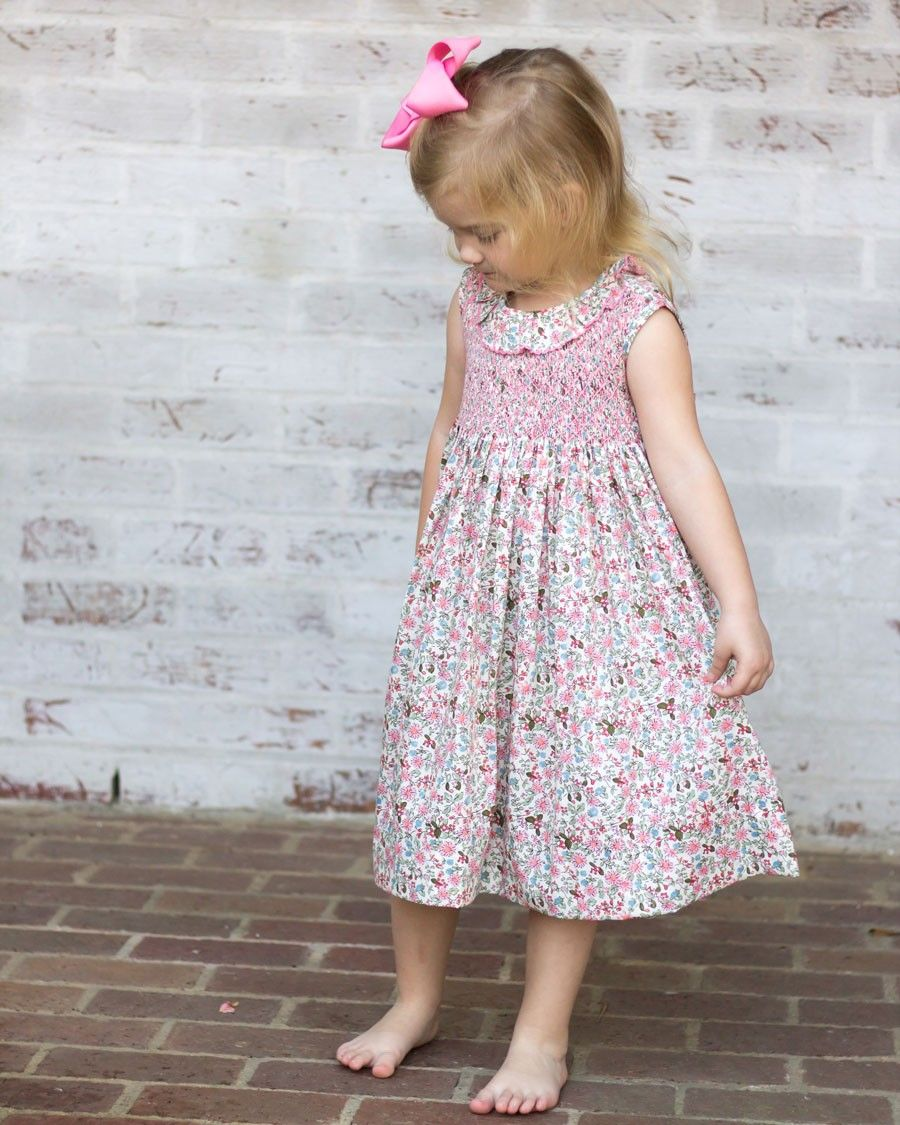 Smocked Eloise Floral Dress with Sash Classic kids