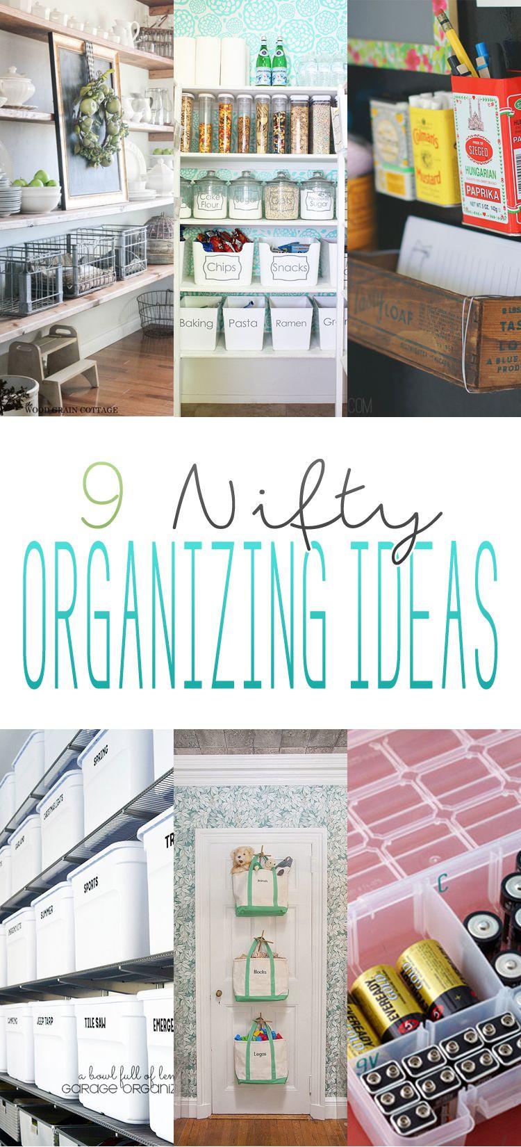 9 Nifty Organizing Ideas | Nifty, Organizations and Organizing