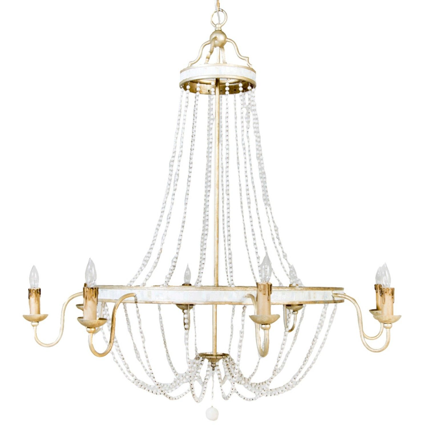 Corinna Chandelier by Gabby Materials Natural Shell Metal
