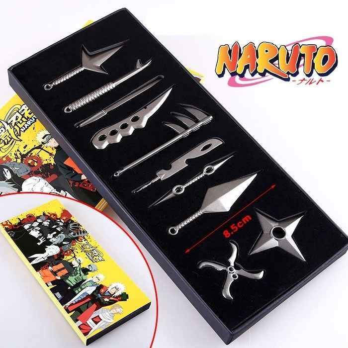 Fashion Naruto Cosplay Model Eight Sets Black and Pendant 8pcs//set