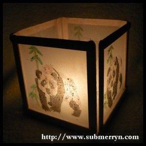 Make A Lantern Using Popcicle Sticks Glue Crayons Tracing Paper