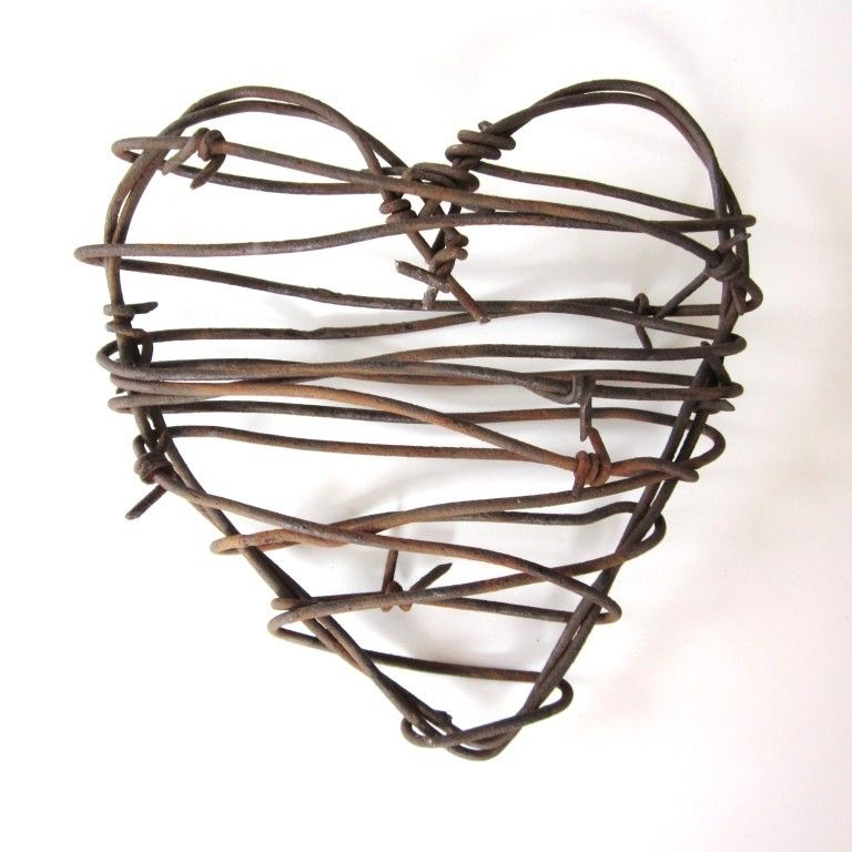 Valentines Day Decor Rustic Home Decor Barbed Wire Heart - Cowboy\'s ...
