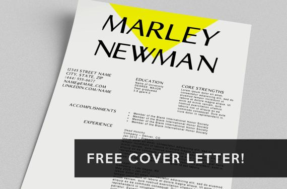 Resume  FREE Cover Letter Word Template The by taupeisdope, $1500 - resume or word
