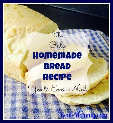 This is The Only Homemade Bread Recipe You'll Ever Need! It has a nice crust that holds together, slices easily, is a perfect texture for sandwiches...