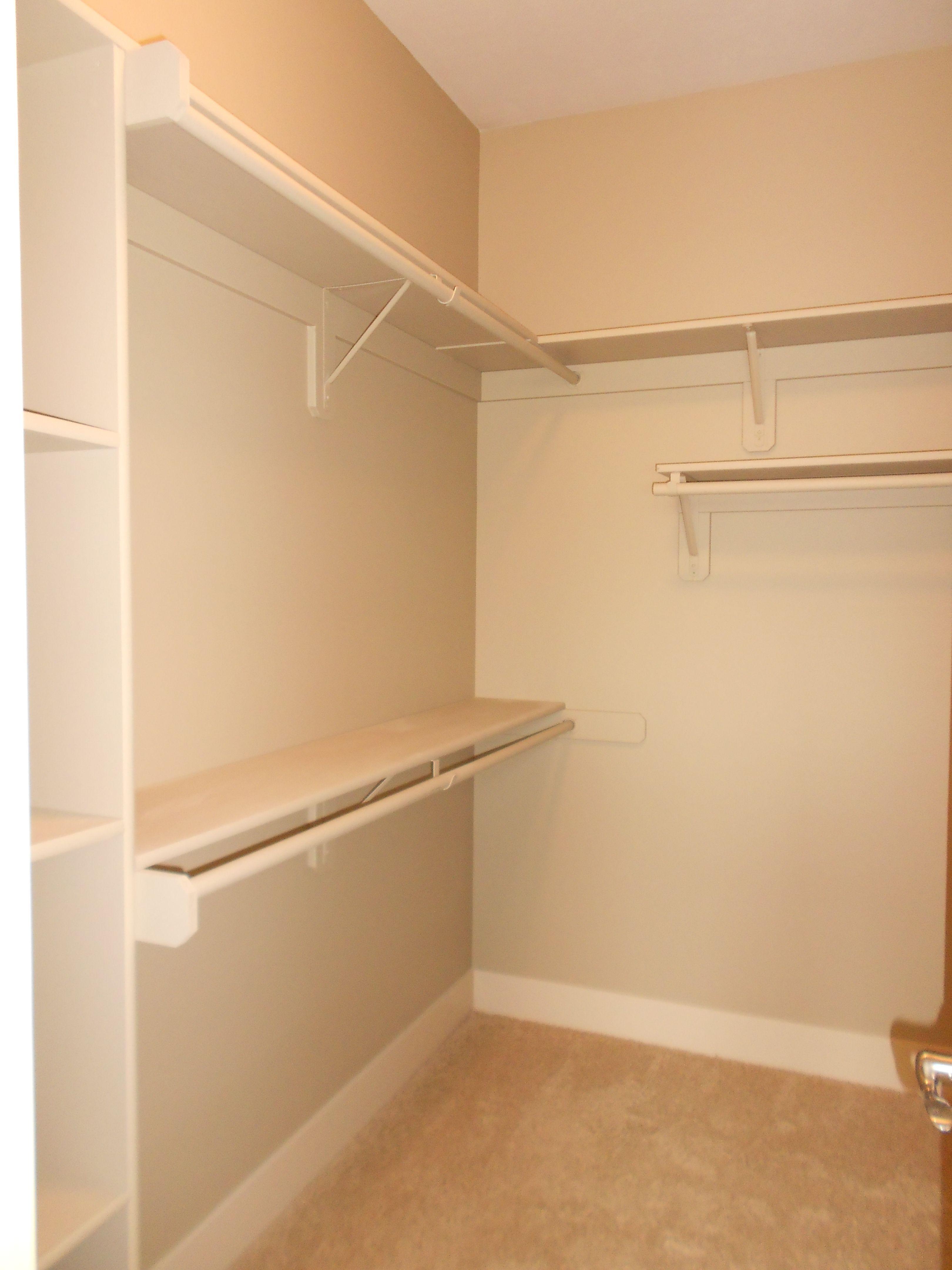 Walk-in Closet!! - The Jordan   Small walk-in closet   Pinterest ...