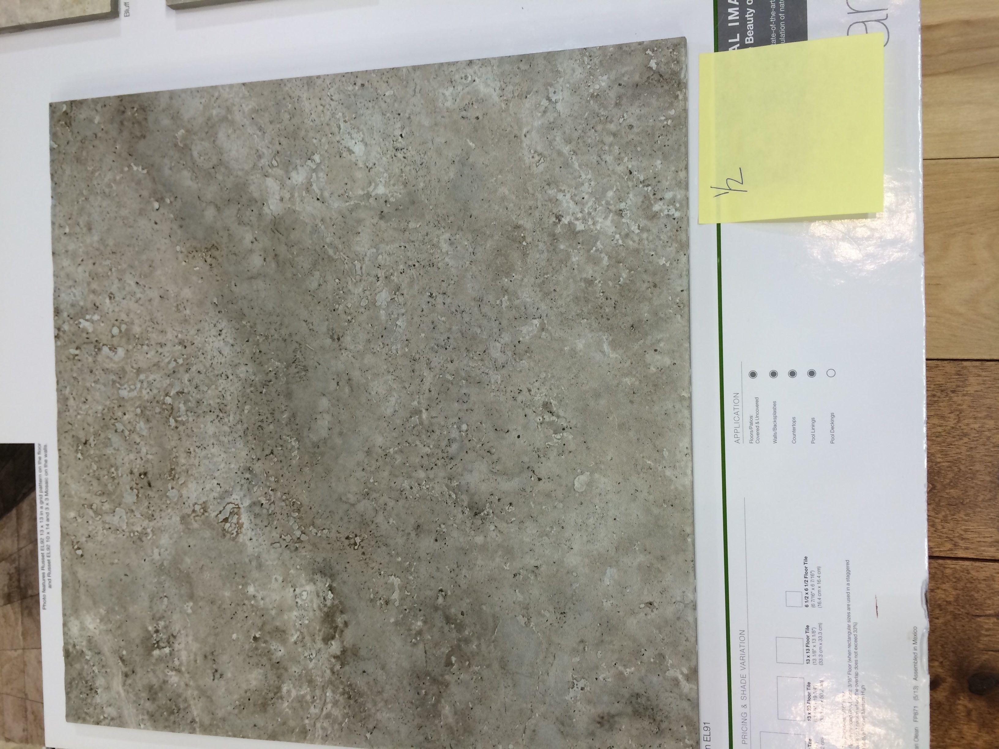 Powder bath tile