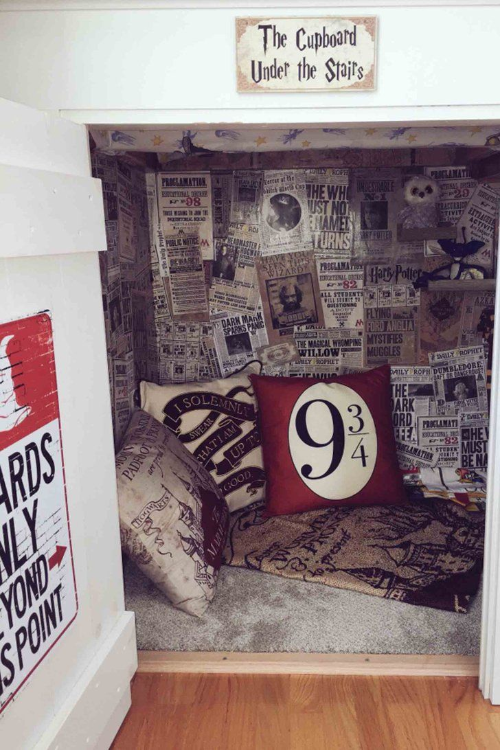 Dad Re-creates Harry Potter's Cupboard Under the Stairs For His Sons, the Luckiest Kids Ever images