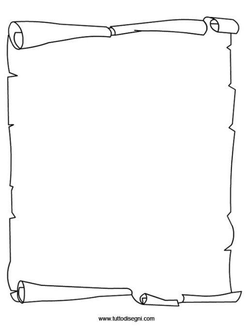 Sagoma Della Pergamena Da Stampare Cerca Con Google Template Da