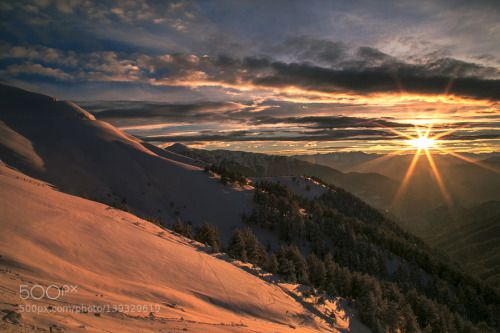 white sunset by trn_reis  sky red sunset mountains winter sun clouds snow white sunset trn_reis