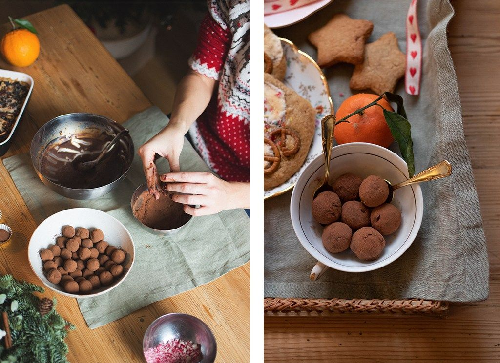 1 Week End 2 Copines 4 Recettes Line Of The Valley Cookies Et Biscuits Truffe Recette Truffes Au Chocolat