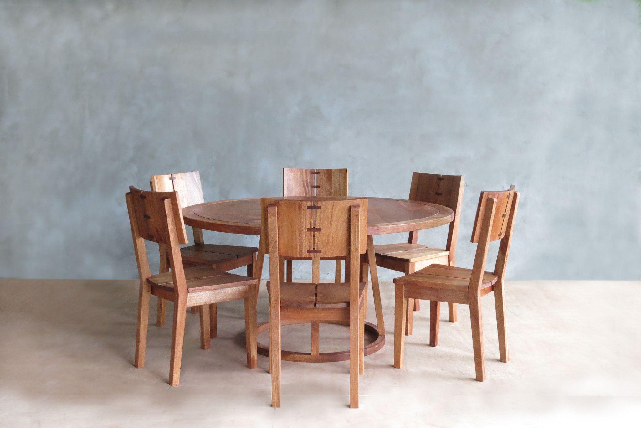 Somoto Round Dining Table - Rosita Walnut | Kitchen Remodel ...