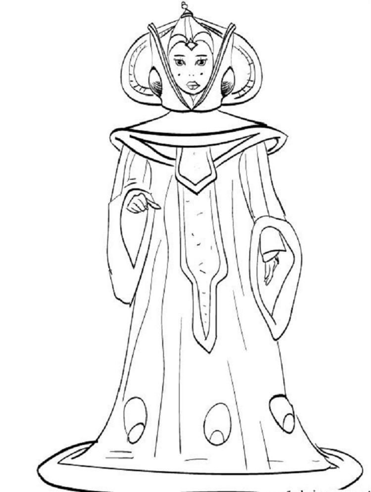 Star Wars Coloring Pages Queen Amidala Princess Coloring Pages Fathers Day Coloring Page Polar Bear Coloring Page