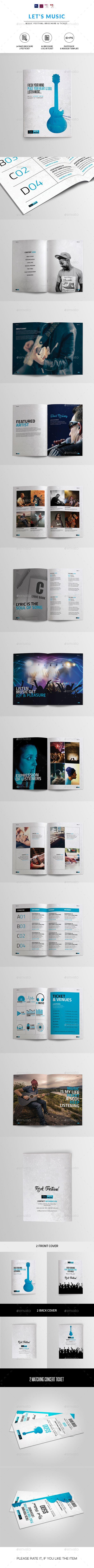Music Festival Brochure   Indesign & Photoshop Template   Brochures ...