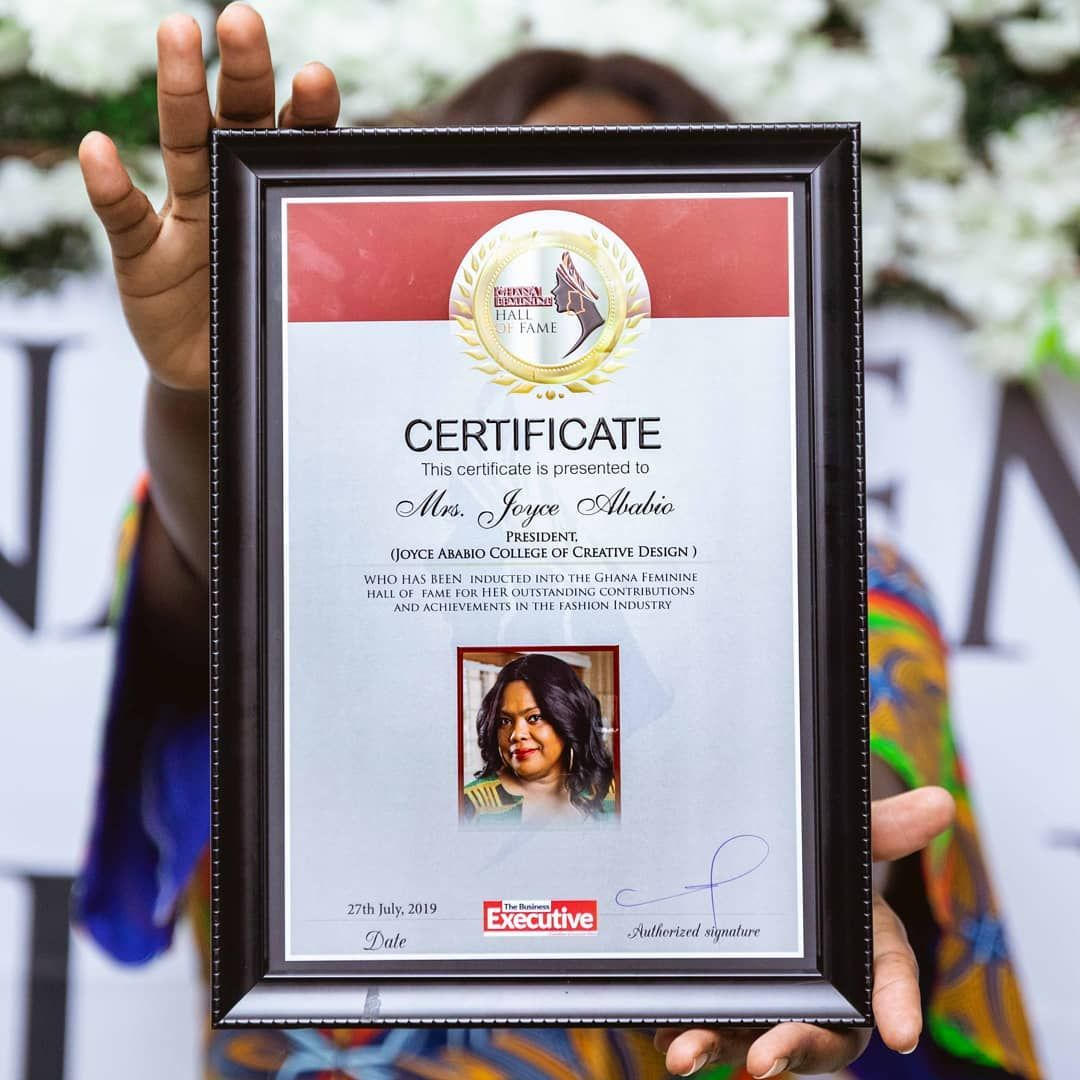 Throwback To When Our President Madam Joyce Ababio Was Inducted In The Ghana Femine Hall Of Fame For He Best Fashion Schools Creative Design College Fashion