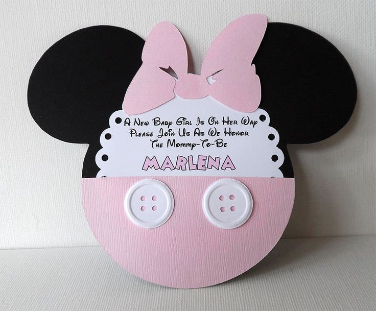 Baby Girl Shower · Mickey And Minnie Mouse Baby Shower Invitations