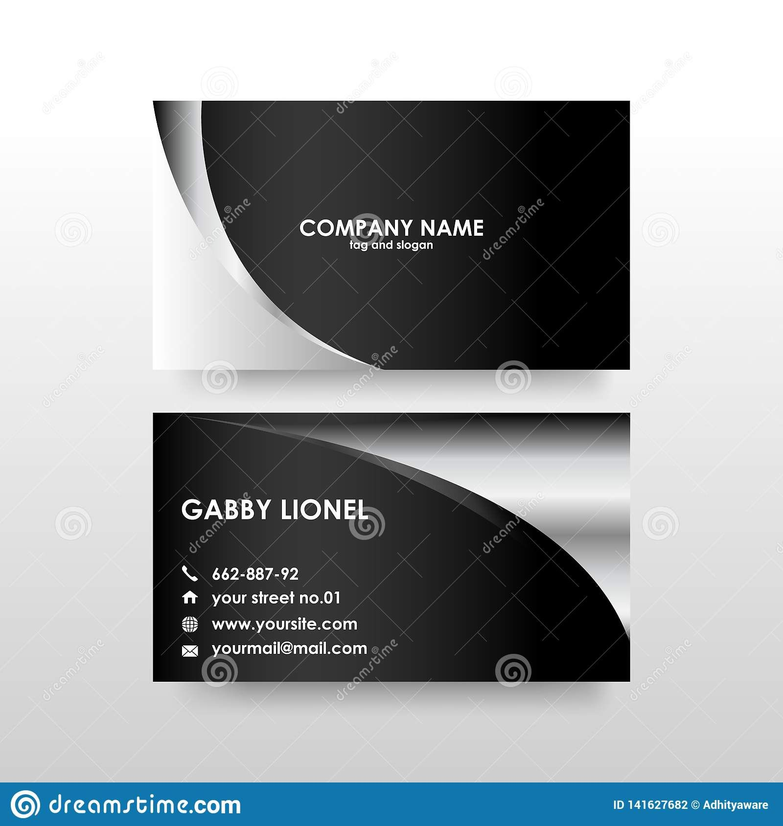The Cool 014 Double Sided Business Cards Templates Creative Card Intended For 2 Illustration Business Cards Double Sided Business Cards Business Card Template