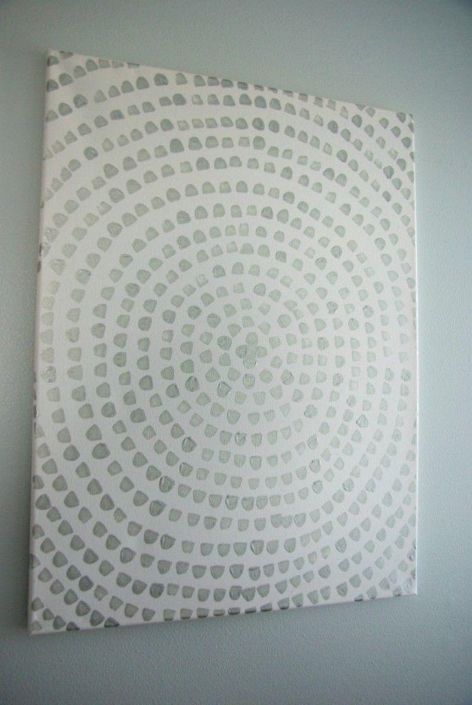 Diy artistique: Peindre sur canvas #selbstgemachteleinwandkunst
