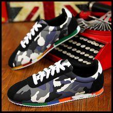 Moda para hombre primavera otoño camuflaje ocasional Color en la high End mate superficie bajo para ayudar a 2015 nueva marca de san valentín zapatos para hombre(China (Mainland))